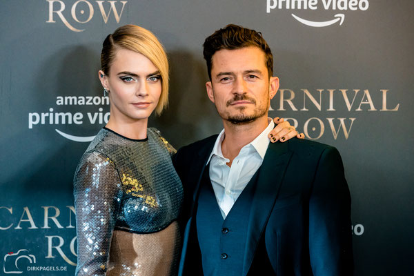 Cara Delevingne und Orlando Bloom, August 2019 in Berlin, Foto: Dirk Pagels, Teltow