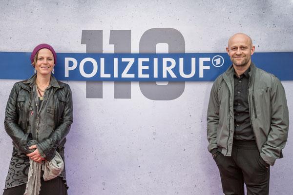 """Maria Simon und Jürgen Vogel beim Fototermin """"Polizeiruf 110, Foto: Dirk Pagels, Teltow"""