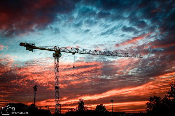 Sonnenuntergang in Teltow, Foto: Dirk Pagels