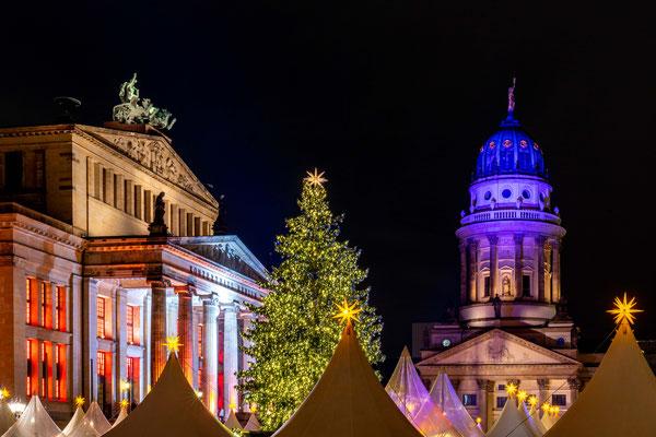 Der Berliner Gendarmenmarkt im Dezember 2019, Foto: Dirk Pagels, Teltow