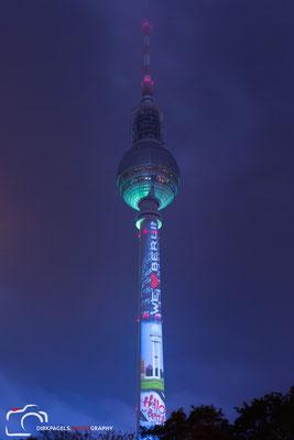 Berliner Fernsehturm, Festival of Lights 2016, Foto: Dirk Pagels
