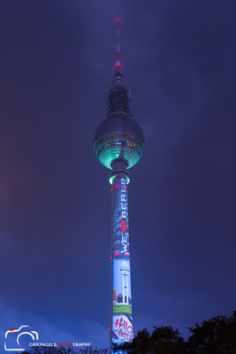 Berliner Fernsehturm, Festival of Lights 2016, Foto: Dirk Pagels, Teltow