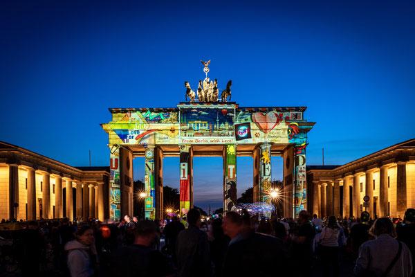 Brandenburger Tor Berlin, Festival of Lights 2020, Foto: Dirk Pagels, Teltow