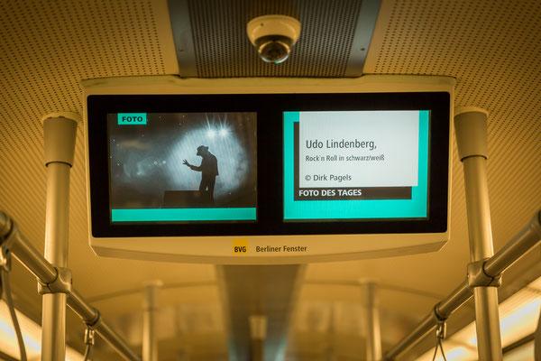 Foto des Tages in der Berliner U-Bahn am 17.6.2017, Udo Lindenberg, Rock´n´Roll in s/w, Foto: Dirk Pagels