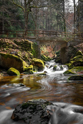 Ilse Wasserfall in Ilsenburg, Harz, März 2020, Foto: Dirk Pagels, Teltow