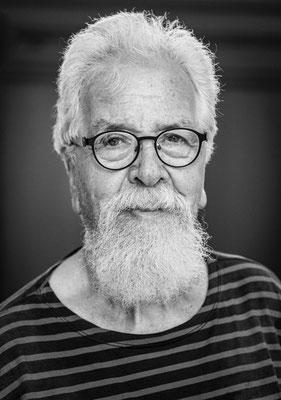 Der Teltower Maler Hans-Jürgen Brauer, Juni 2021, Foto: Dirk Pagels, Teltow