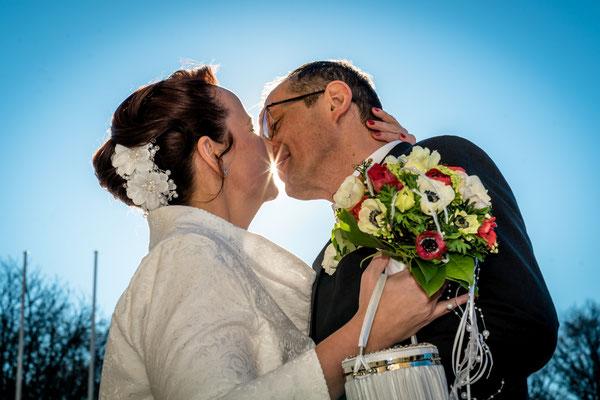Hochzeit am Brandenburger Tor Berlin 2019, Foto: Dirk Pagels
