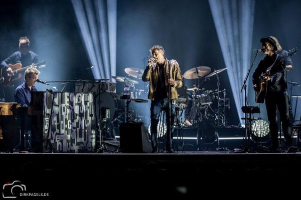 A-ha am 29.01.2018 in der Mercedes Benz Arena, Foto: Dirk Pagels