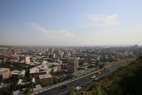 Erevan-einer der Hauptstaßen