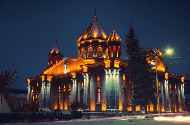 Gyumri bei Nacht