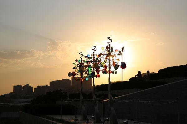 Sonnenuntergang auf den Kaskaden
