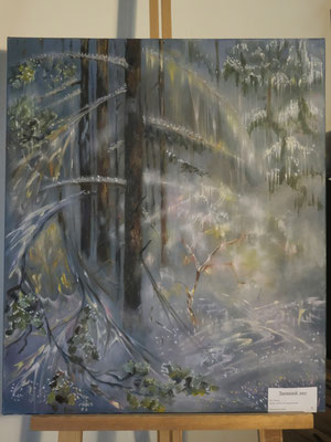 Зимний лес - холст, масло, 60х70 см, художник - Светлана Сягаева (5 800 р)