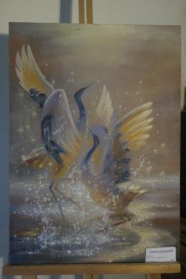 Танец журавлей - холст, масло, 40х60 см, художник - Светлана Сягаева (не продаётся)