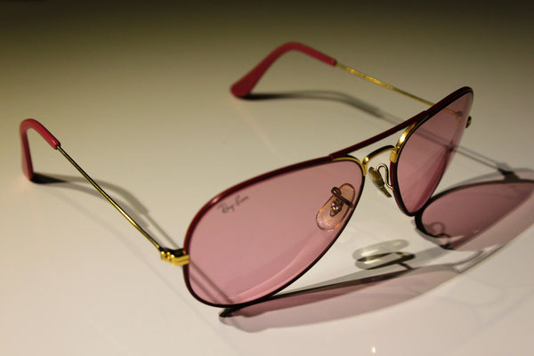 03206a7f31 Large Metal I Flying Colors Pink - Vintage Ray Ban Sunglasses by Bausch and  Lomb