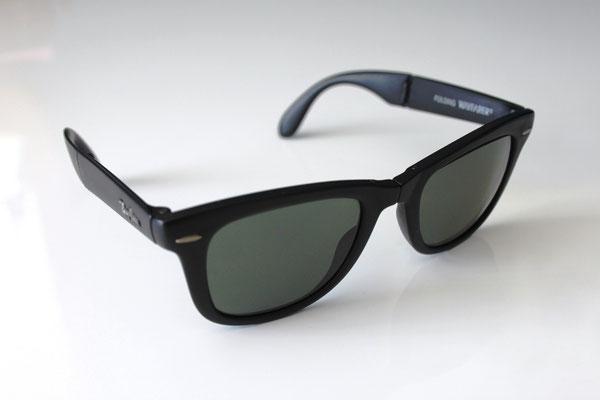27249e09b3e Folding Wayfarer I G-15 - Vintage Ray Ban Sunglasses by Bausch and Lomb