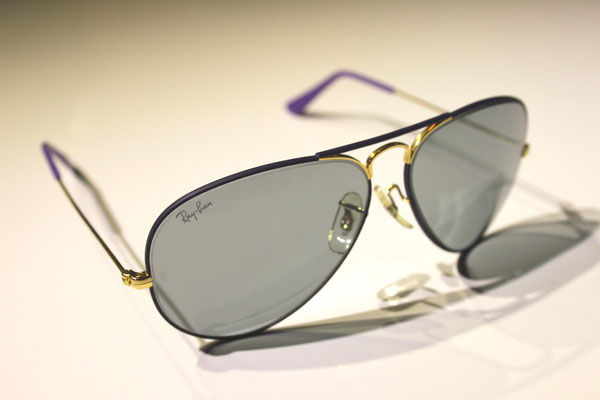 199e38479f Large Metal I Flying Colors Violet - Vintage Ray Ban Sunglasses by Bausch  and Lomb