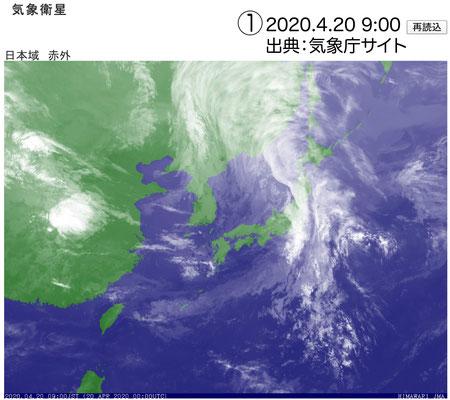 雨雲が東日本を覆っています。