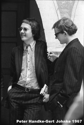 Peter Handke und Gert Jonke bei den Profilen im St. Veit a.d. Glan 1967