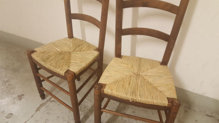 Binsenstühle Sitzfläche neu geflochten