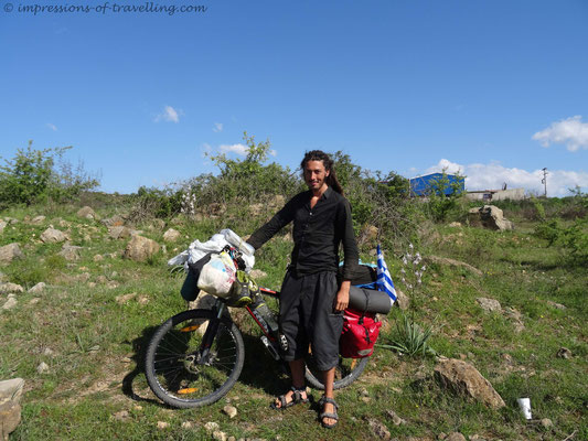 Radreisender aus Frankreich