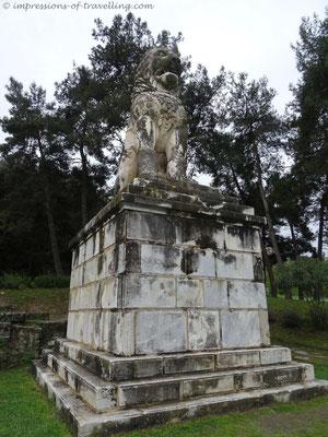 Löwenmonument bei Amfipoli in Griechenland
