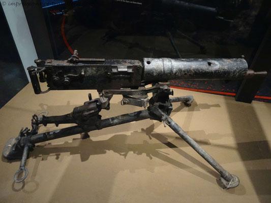 Maschinengewehr aus der Zeit des 1. Weltkriegs
