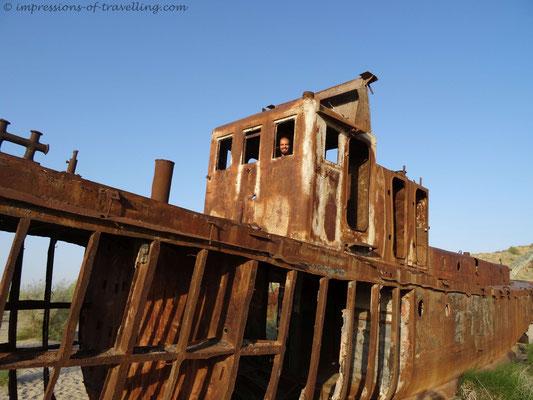 Schiffswrack am Aralsee
