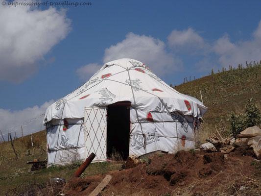 Interessante Jurte in Kirgistan
