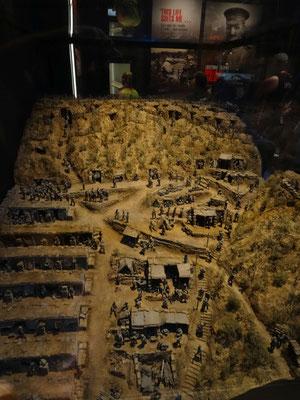 Modell der von den Angreifern errichteten Schützengräben