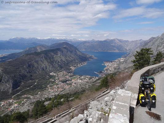 Blick über Kotor in Montenegro