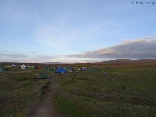 Campingplatz in der mitte der Kjölur (Hveravellir)