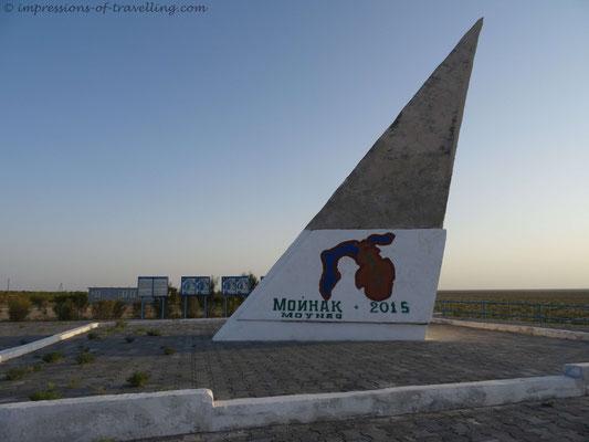 Denkmal am Aralsee bei Mo´ynoq