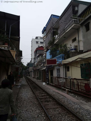 Eisenbahn in Hanoi