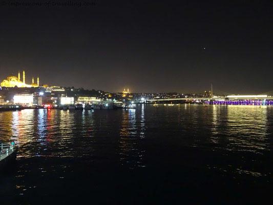 Blick von Galatabrücke in Istanbul