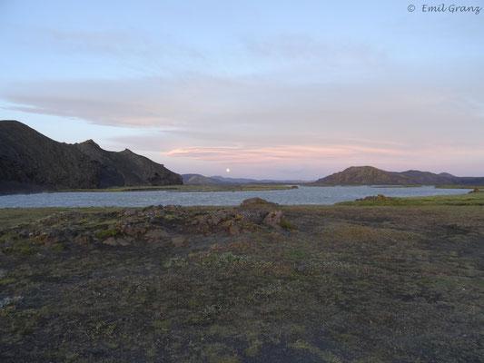 Abendstimmung in der Nähe von Landmannalaugar