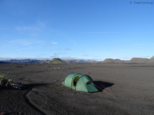 Camping in der Nähe von Landmannalaugar