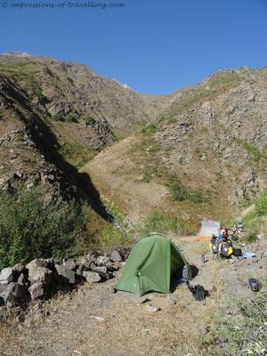 Campen in den Bergen