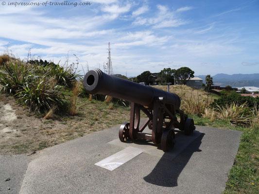 24-Pfünder zur Zeitangabe auf dem Mount Victoria in Wellington