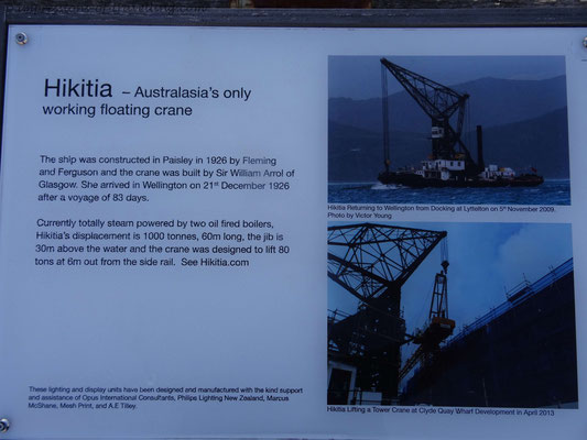 Kranschiff Hikitia gebaut im Jahre 1926