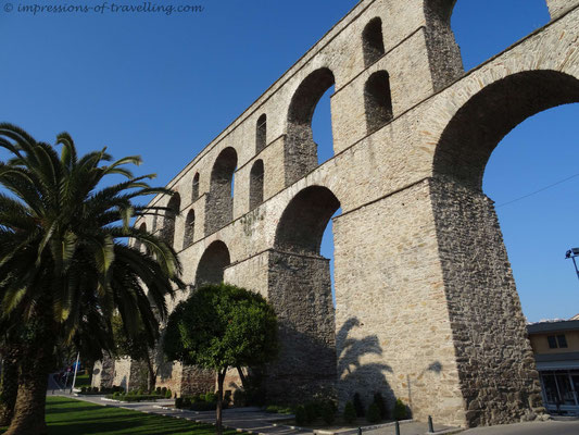 Aquädukt in Kavala Griechenland