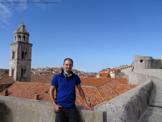 Auf der Stadtmauer von Dubrovnik