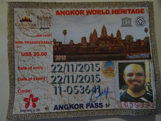 Ticket für die Besichtigung von Angkor