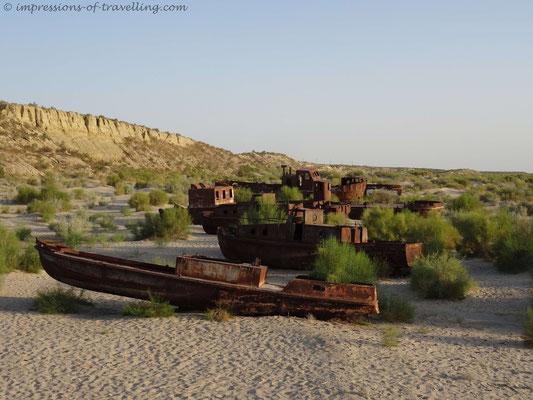 Schiffswracks am Aralsee