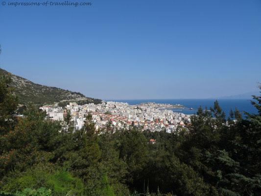 Blick auf Kavala in Griechenland
