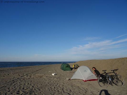Camping an der türkischen Schwarzmeerküste