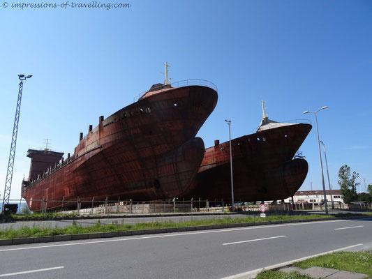 Schiffe bei Eregli in der Türkei