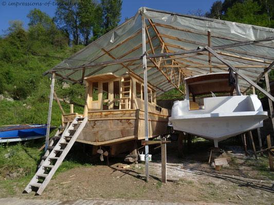 Bootsbau an der Türkischen Schwarzmeerküste