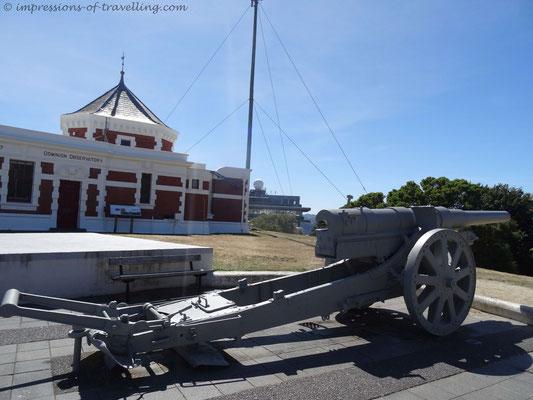 Erbeutete Deutsche Kanone über Wellington
