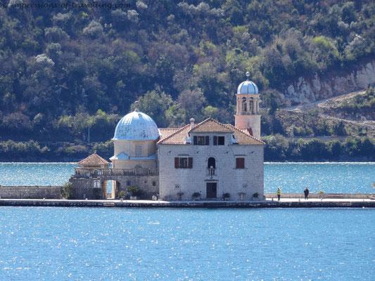 Kirche im See von Kotor