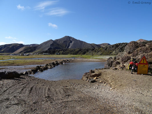 Furten zum Campingplatz Landmannalaugar